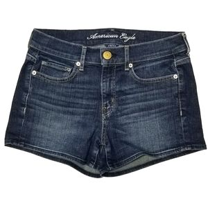 American Eagle Blue Faded Short Shorts Size 2